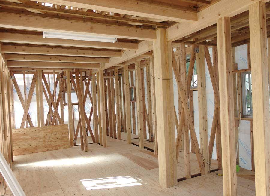 木造住宅建築中風景