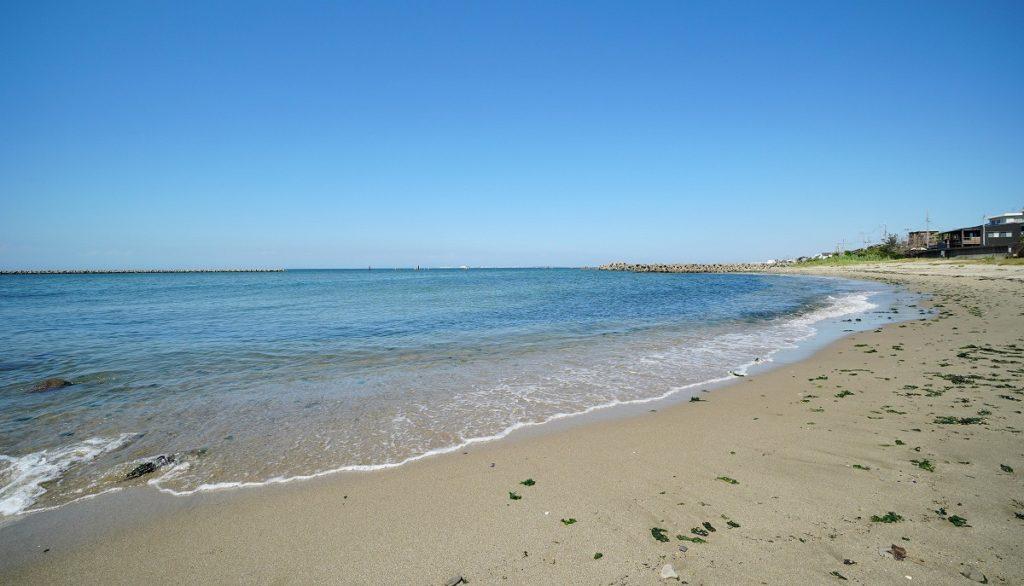 歩いて行けるビーチ